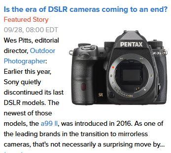 End of DSLR